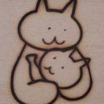 親子のキャラクター焼印