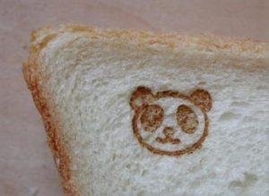 食パンに焼印
