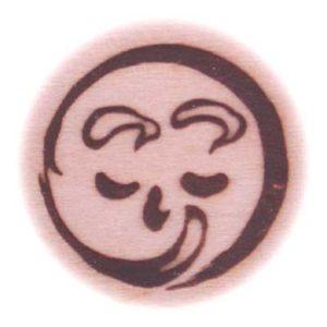 お月様の焼印です。
