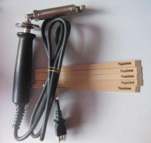 電気ゴテと割箸