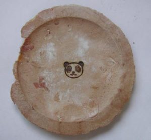 ピーナツ煎餅に焼印2