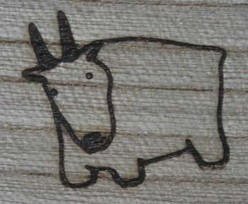 ヤギの焼印