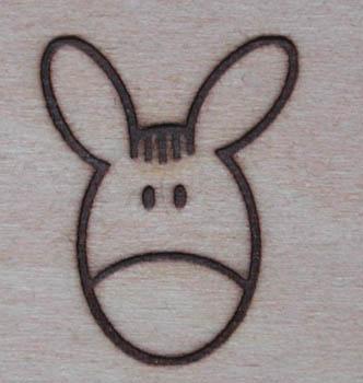 ロバの焼印