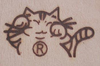 猫をロゴにした工房焼印2
