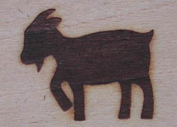 ヤギの焼印3