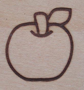 りんご焼印3