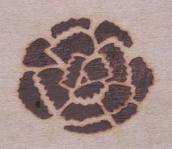 カーネーション焼印
