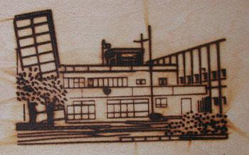 建物の焼印