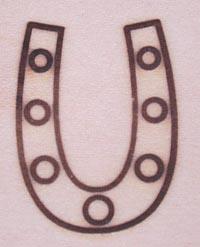 蹄鉄の焼印