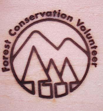 森林ボランティアの焼印
