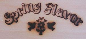 スプリングフレーバーの焼印
