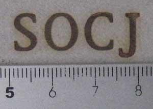 SOCJ焼印