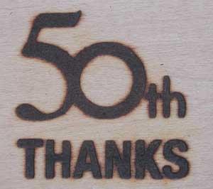 50周年記念焼印