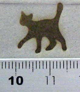猫焼印を紙へ