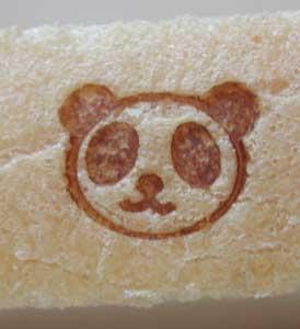 パンダ焼印をパンに