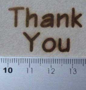 ThankYou焼印を紙へ