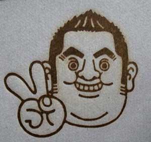 人の顔焼印7