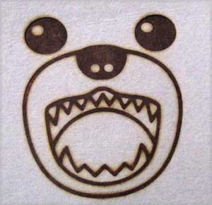 動物キャラクター焼印6