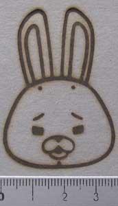 動物キャラクター焼印8