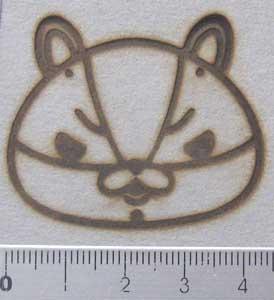 動物キャラクター焼印9