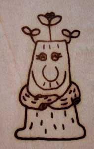 木の妖精焼印