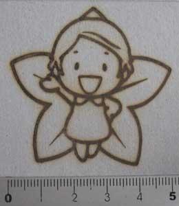 花の妖精の焼印