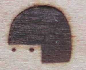 人の顔焼印4