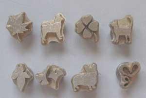 8個の新たに作ったミニ焼印