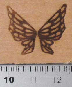 アゲハ蝶焼印