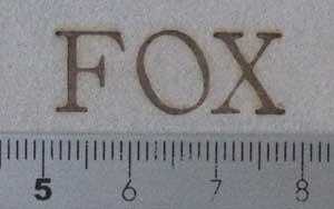 FOX焼印