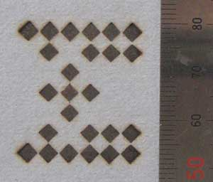 四角文字焼印
