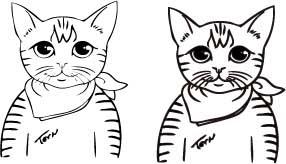 猫祭り焼印補正