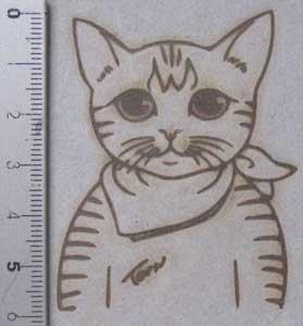 猫祭り焼印押印
