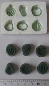 果物焼印グループ2ゴム型等