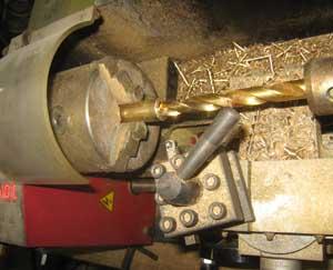 焼印の棒の旋盤加工