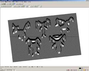 焼印原型切削画面