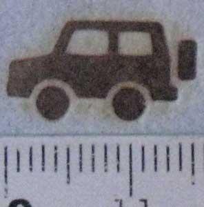 RV車の焼印を紙へ