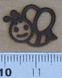 ミツバチ焼印を板へ