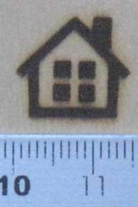家の焼印を板へ