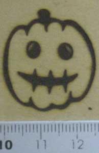 お化けカボチャの焼印画像